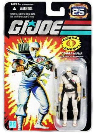 G.I. Joe 25th Anniversary Cartoon Series Cardback: Storm Shadow Classic (Cobra Ninja) 3.75 Action Figure ()