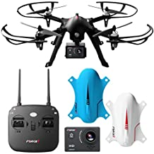 F100 Ghost Drone with Camera - 1080p Remote Control Go Pro Drones for Adults and Kids - RC Brushless Drone for Go Pro Hero with Long Flight Time, Long Range & Extra Battery