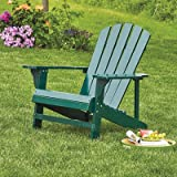 Classic Hunter Green Painted Wood Adirondack Chair