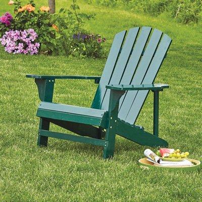Classic Hunter Green Painted Wood Adirondack Chair -