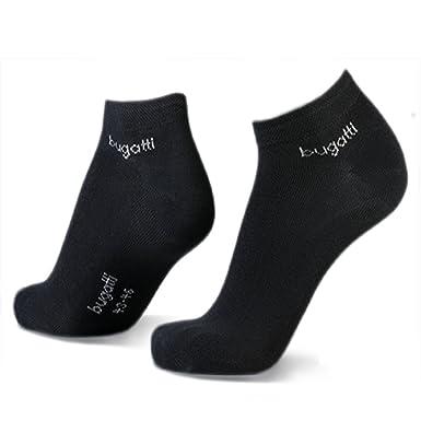 heiß-verkaufender Fachmann neue bilder von schön billig Bugatti Mens Sneaker Socks 3er Pack 6765 610 schwarz Strumpf Socke Füsslinge