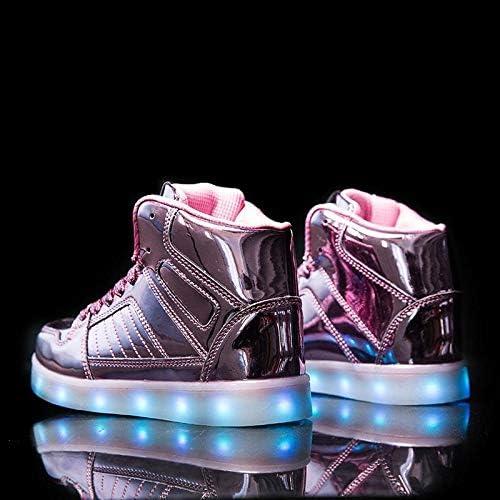 V2 Kids HI TOP LED Light Up Shoes Luminous Flashing Sneakers - 3