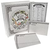C.R. Gibson Recipe Binder Bundle Pocket-Pages 4x6 Cards Dividers Magentic Grocery Shopping Lists Notepad by C.R. Gibson