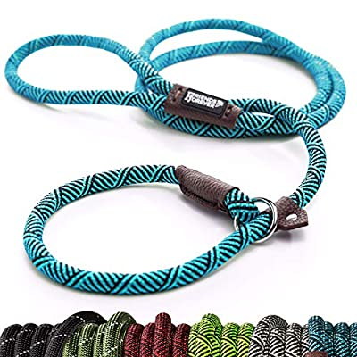 Friends Forever Extremely Durable Dog Slip Rope Leash, Premium Quality Mountain Climbing Rope Lead, Strong, Sturdy Comfortable Leash Supports The Strongest Pulling Large Medium Dogs 6 feet