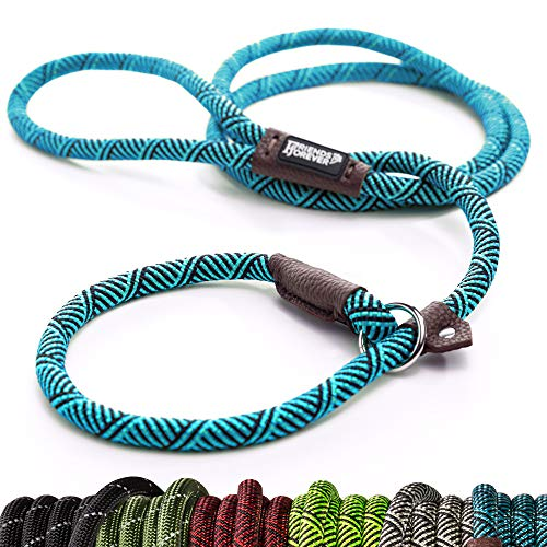 Friends Forever Extremely Durable Dog Rope Leash, Premium Quality Mountain Climbing Rope Lead, Strong, Sturdy Comfortable Leash Supports The Strongest Pulling Large Medium Dogs 6 feet, Blue from Friends Forever