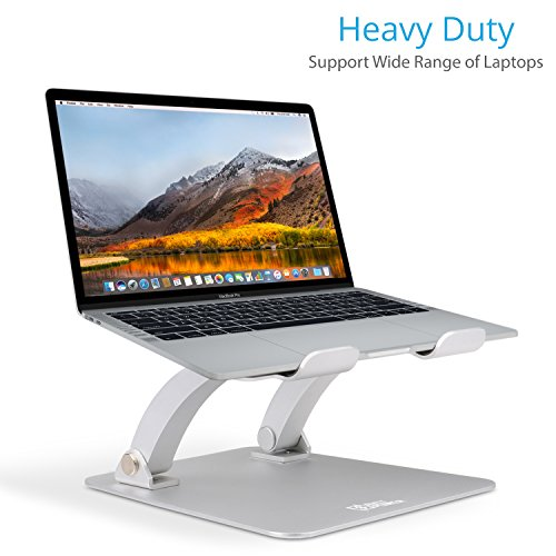 AVLT-Power Aluminum Adjustable Laptop Stand Riser for MacBook PC Notebooks and Tablets, Heavy Duty Elevator Ergonomic Dual-Mast Design - Supports up to 6kg ()