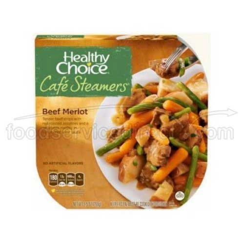 Healthy Choice Cafe Steamers Beef Merlot, 9.5 Ounce – 8 per case.