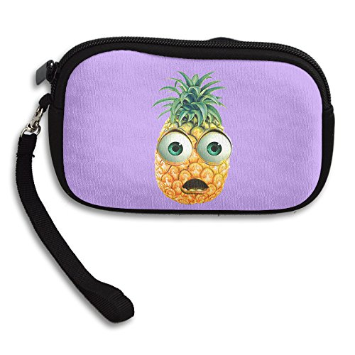 Claudia Fashion Women Girl Zipper Cute Purse Cartoon Pineapple Card Holder Mini Handbag