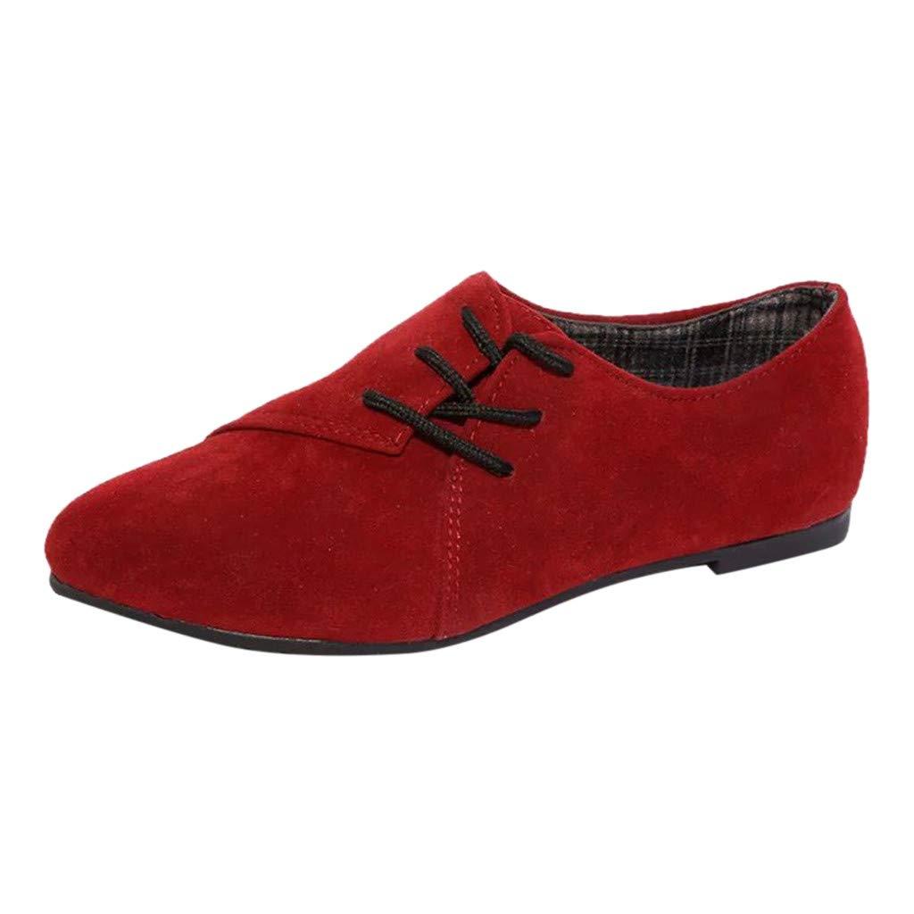 Women's Retro Lace-Up Shoes - Casual Shoes Flat Bottom Single Shoes Ladies Shoes,2019 New