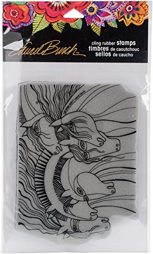 - Stampendous Laurel Burch Cling Stamp, Wild Horses