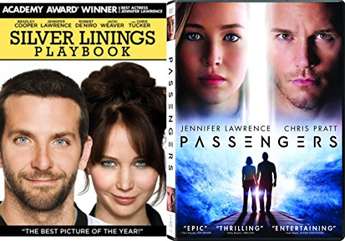 2 Pack Movie Jennifer Lawrence Passengers + Silver Linings Playbook Double Feature