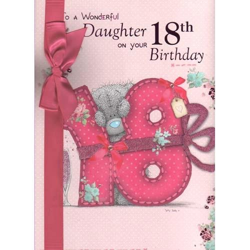 "Me To You Tatty Teddy /"" WONDERFUL DAUGHTER ON YOUR 18th BIRTHDAY/"" Card"