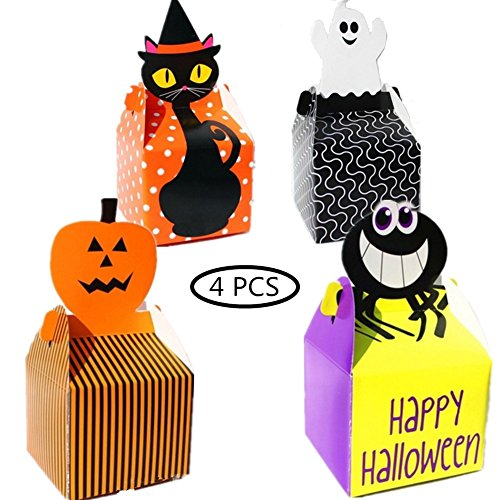Holloween Candy Paper Boxes for Kids 4PCS