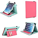 Protective Tablet Cases Covers Multi Angle Stand (Pink) fits Polaroid 9 , Polaroid S9, Matsunichi Marquis Pad MP977, Polaroid A8