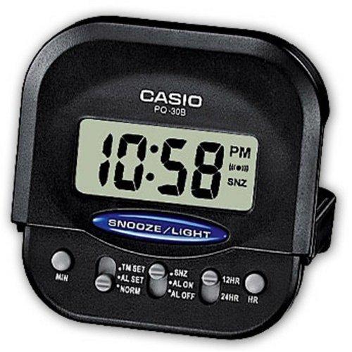 Casio Compact Digital Beep Black Alarm Clock PQ30B-1
