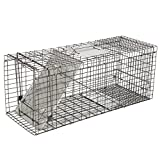 BBBuy Live Animal Humane Trap Cage Catch 32''x12.5''x12'' Release Rats Mouse Mice Rodents Squirrels and Similar Sized Pests (32 inch Metal Plate Door)