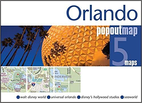 Orlando PopOut Map: Handy pocket size pop up map of Orlando ...