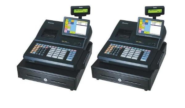 2 cantidad Sam4s SPS-530 2-in-1 caja registradora y pantalla ...