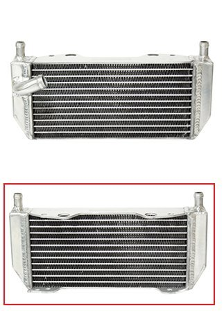 Fluidyne Radiator - Outlaw Racing OR4500L Radiator Left Side-Dirt Motorcycle Suzuki RM250 2001-2008