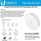 Ubiquiti PBE-M5-400-ISO PowerBeam M5 25dBi ISO 5GHz AirMAX 400mm 150+Mbps 25+km