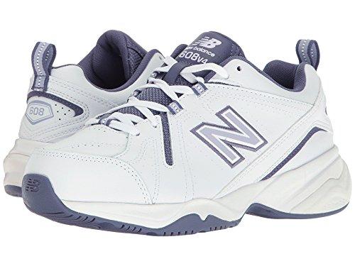 適度にスキル描く(ニューバランス) New Balance レディーストレーニング?競技用シューズ?靴 WX608v4 White/Purple 10 (27cm) 2A - Narrow