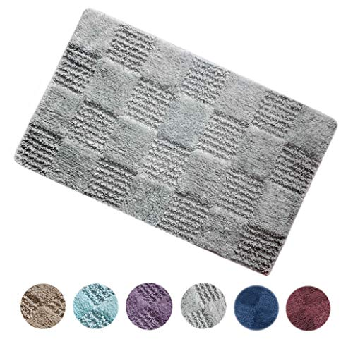 - Woven St Luxury Tufted Cotton Bath Rug Floor mat for Spa Vanity Shower Super Soft Machine Washable Bath Rugs for Bathroom/Kitchen Water Absorbent Anti-Skid Bedroom Area Rugs (21
