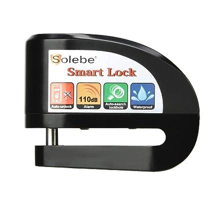 Disc Brake Lock, Motorcycle Bike Alarm Disc Lock, Smart APP Keyless Auto-theft Lock, Waterproof 110dB Alarm Sound Mobile Phone Control 5.5 mm Lock pin ...