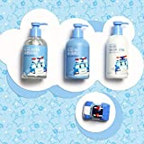[DAENG GI MEO RI] Poli Kids Soothing Shampoo & Bath 300ml (Robocar Poli) - 2 in 1 Hair & Body Bubble Cleanser, Ecocert Certificated Natural Ingredients Nourishing & Moisturizing Shampoo & Bath