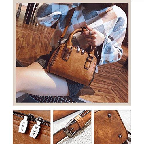 Bag Handbag Simple GuoFeng a New Messenger Colore atmosferica Brown Brown Borsa Wild tracolla Retro xEYE6Uqw