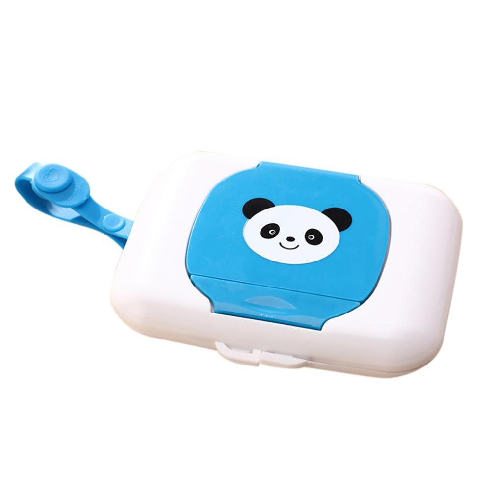 Coohole Cute Baby Travel Wipe Case Child Wet Wipes Box Changing Dispenser Home Storage Holder
