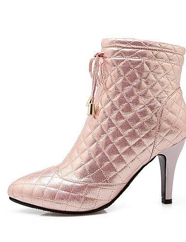 Xzz De Soir Uk6 chaussons Bottes robe us8 automne décontracté Bottes Oklok Printemps Cn39 Fête Mode femme Pink hiver amp; Chaussures Pointu bout Eu39 dwn74f