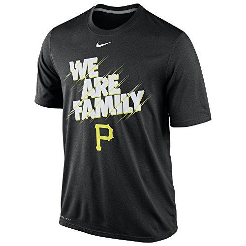 Sleeve Shirt Nike Mlb Short (Nike Men's Pittsburgh Pirates MLB Local T Shirt Black Size Medium)