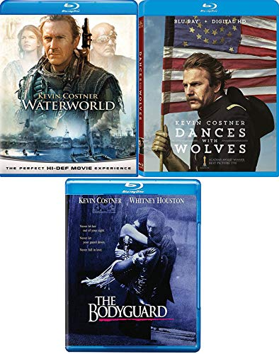 Costner Collection 3 Films Dances With Wolves (25th Anniversary Edition) + Waterworld Blu Ray Kevin Costner 3 Bodyguard Pack Epic Movie Action Set