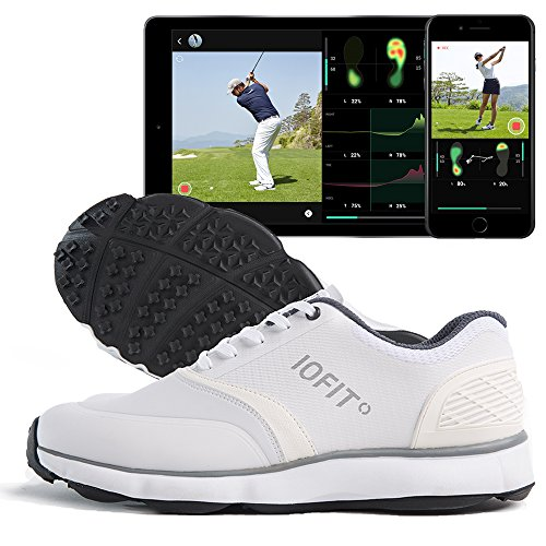 IOFIT Golf Shoes for Women. Smart Technology Features Real-Time Swing Analysis, Comparison, and Practice Mode via Bluetooth App for iOS & Android. Comfortable, Durable, Breathable, Lightweight Design. by IOFIT