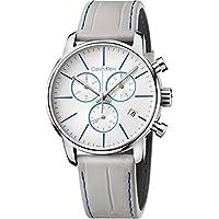 Calvin Klein K2G271Q4 White Dial Grey Leather Men's Watch