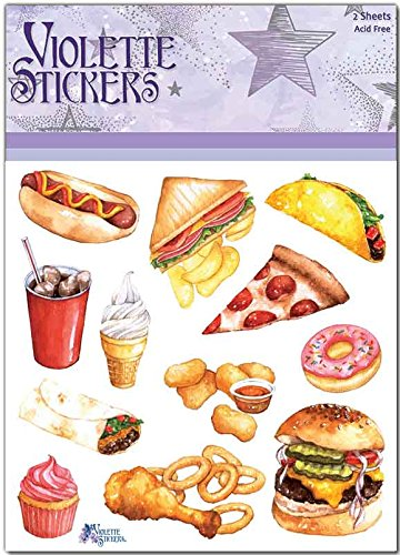 Violette Stickers Fast Food