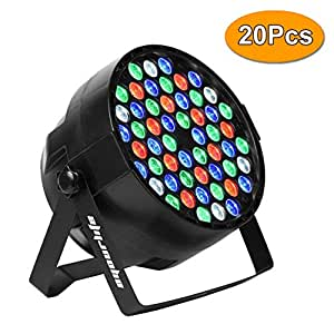Eyourlife LED Stage Lights LED DJ PAR Light DMX 512 Stage Lighting Disco Projector for Home Wedding Party Church Concert Dance Floor Lighting (20pcs 54x3W RGBW Stage Lights)
