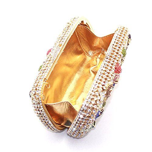 Women's Bag Wedding Handbag Fashion Gold Evening SrqxpS