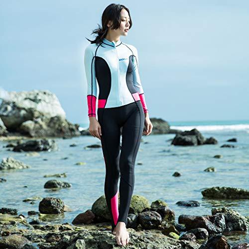 YEZIJIN Women 0.5mm Neoprene Long Sleeve Diving Wetsuit Spearfishing Suit Swimwear Wetsuit top Long/Short Sleeve Sky Blue by Yezijin_Swimsuit (Image #2)
