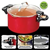 Red Copper Better Pasta Pot by BulbHead, Locking