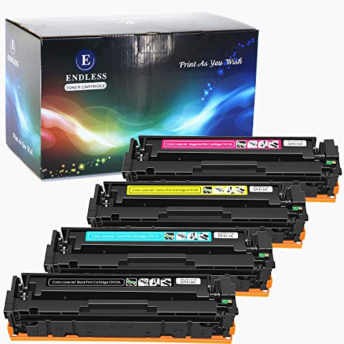Compatible Toner Cartridge Replacement for HP 410A CF411A CF412A CF413A for Color Laserjet Pro MFP M477fdn M477fdw M477fnw M452dn M452nw M452dw M377dw Series Printer (Black,Cyan,Yellow,Magenta,4 -