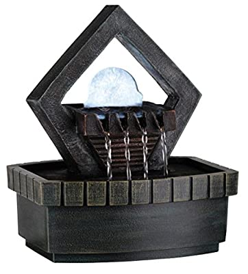 OK LIGHTING FT-1154/1L 9-Inch H Fountain with 1 Light