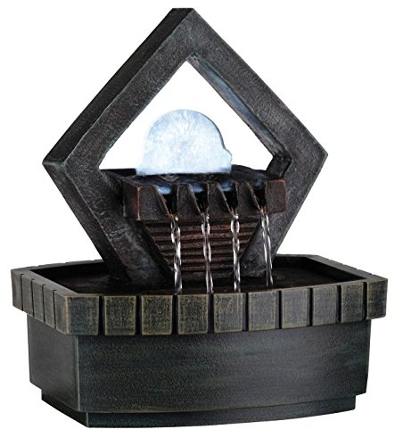 OK LIGHTING FT-1154/1L 9-Inch H Fountain with 1 Light ()