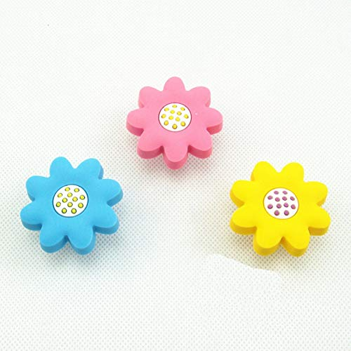 Value-5-Star - Non-toxic eco Soft Rubber Cartoon knob Cabinet Wardrobe Drawer Pull Handle knob for Children baby Room Sun Flower knobs