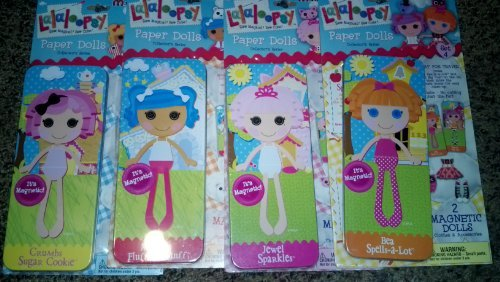Lalaloopsy Manetic Paper Dolls Complete Set of 4 (1, 2, 3 & 4)