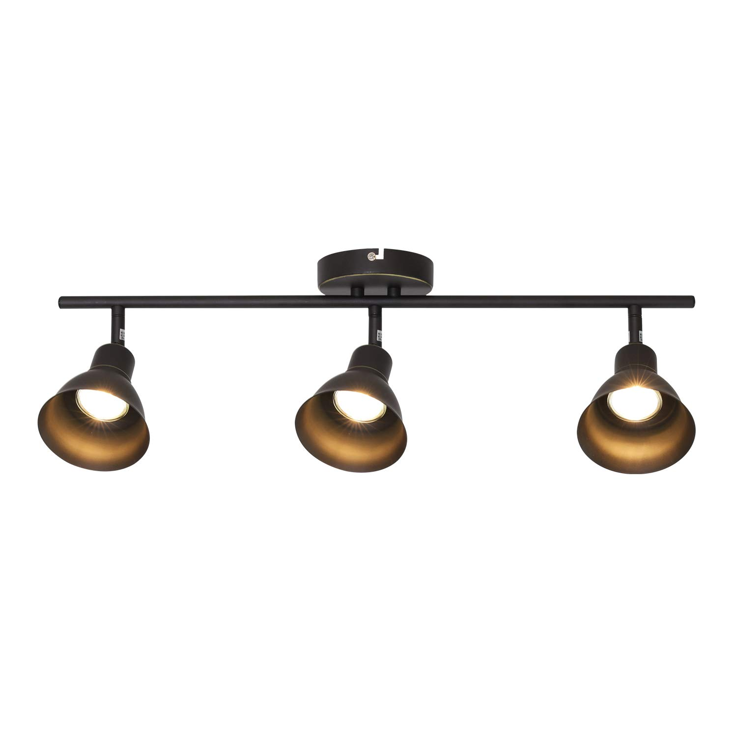 Melucee ceiling track lighting with 3 light adjustable track heads oil rubbed bronze spotlights kitchen track lighting fixtures ceiling 35w gu10 base