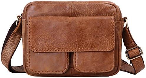 9d379f9f2 Leathario Bolso de Cuero de Caballo Loco colgado en Bandolera o de Hombros para  Hombres (café)
