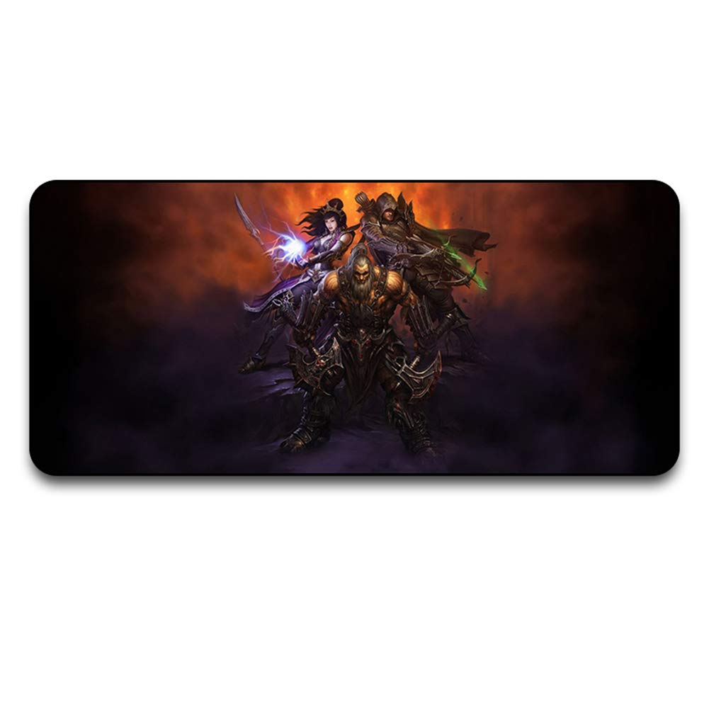 5 9004004 Extended Gaming Mouse Mat, XXXL Extended Cloth Surface Mouse pad WaterResistant Desk Pad with NonSlip Rubber Base and Stitched Edges2600  300  4