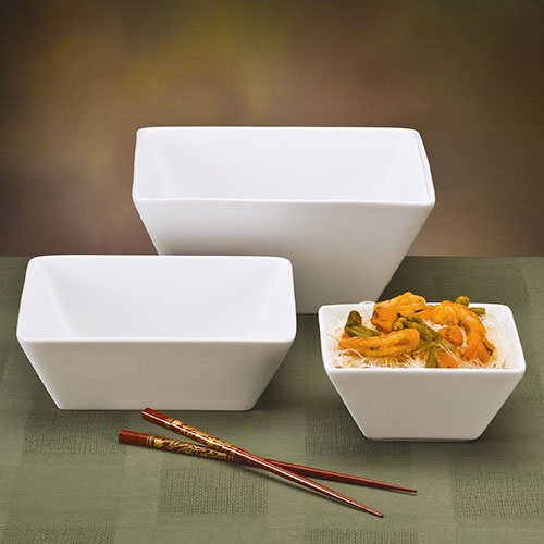 World Tableware SL-19 Slate Dinnerware - 20 oz. Square Bowl, 5-1/2'' I 2 Dozen