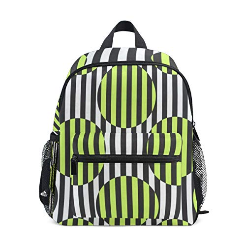 Abstract Stripes School Backpack For Girls Kids Elementary School Bag Mini Backpacks